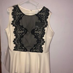 Off white and lace top